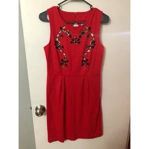 Red Dress with Bead Details